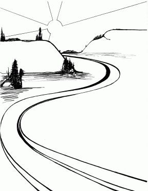 Pathway clipart winding trail Clipart winding black Clipground and
