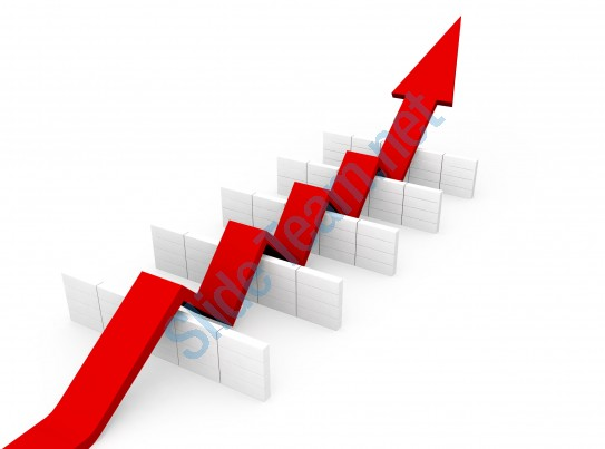 Pathway clipart zig zag Red_arrow_making_zig_zag_path_to_pass_hurdles_stock_photo_Slide01 Zag Arrow Making Red