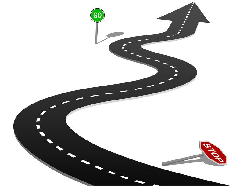 Curve clipart road map #10