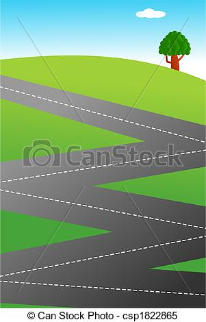 Way clipart zig zag Illustration country road Stock An
