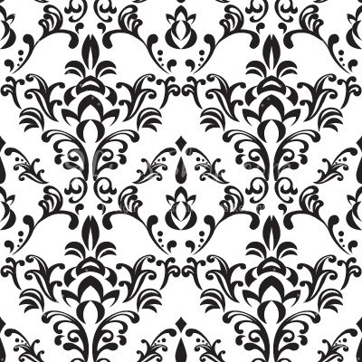 Pattern clipart baroque Baroque clipart Black and baroque