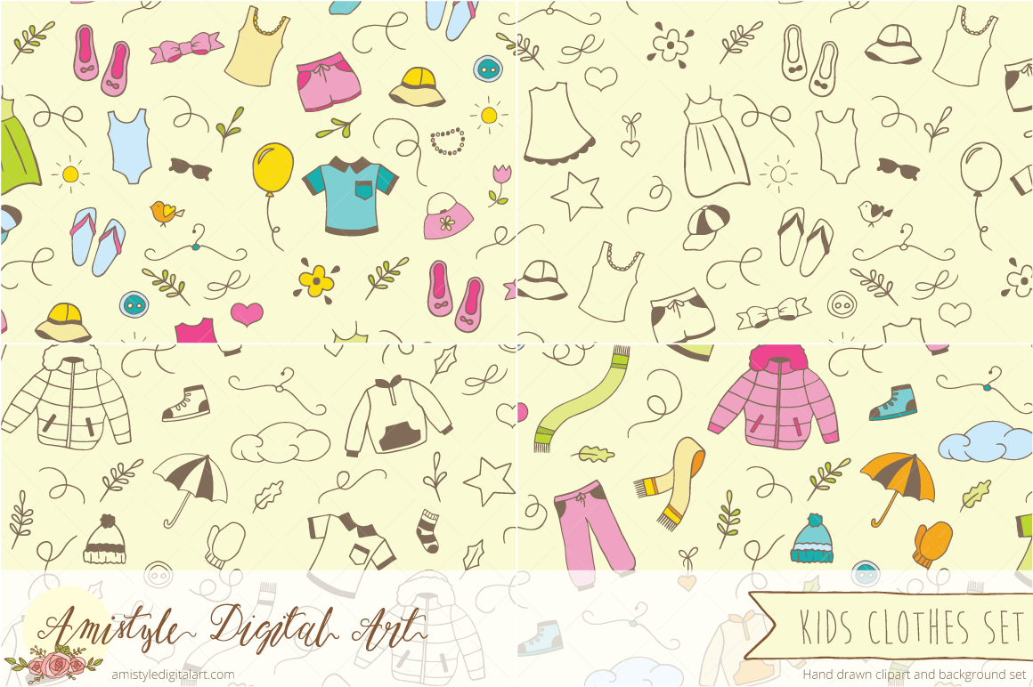 Background clipart clothes #3