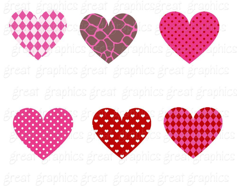 Pattern clipart heart Clip Digital Heart Clipart Clip