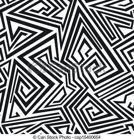 Pattern clipart line Seamless spiral pattern Vector