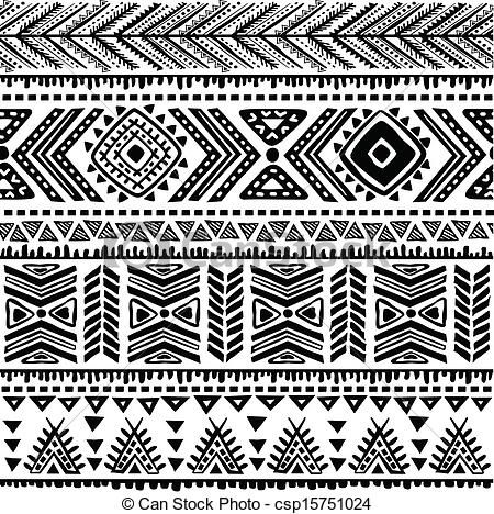 Pattern clipart line Images stock tribal illustration free
