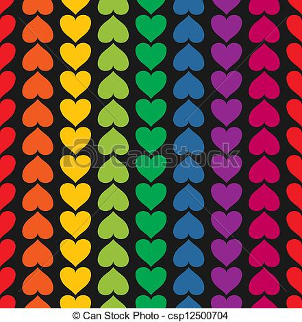 Pattern clipart rainbow Colored pattern of Vector seamless