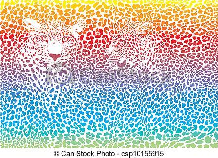 Pattern clipart rainbow Background pattern Leopard pattern rainbow