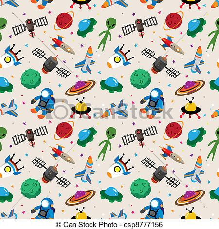 Pattern clipart space Vector seamless space Vector Search