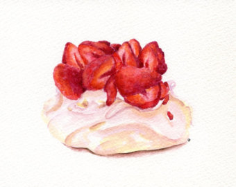 Pavlova clipart typical Still ORIGINAL (Watercolors  Art