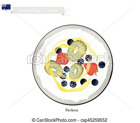 Pavlova clipart aussie Cake Pavlova Dessert Australian Fruits