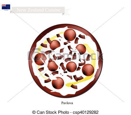 Pavlova clipart cake Zealand Pavlova Meringue Zealand csp40129282