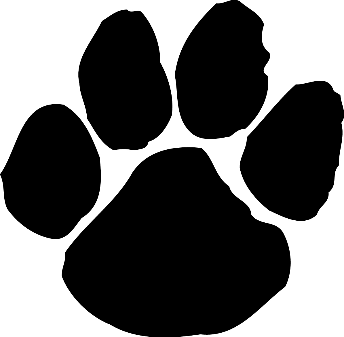 Paw clipart 6 art wildcats and paw