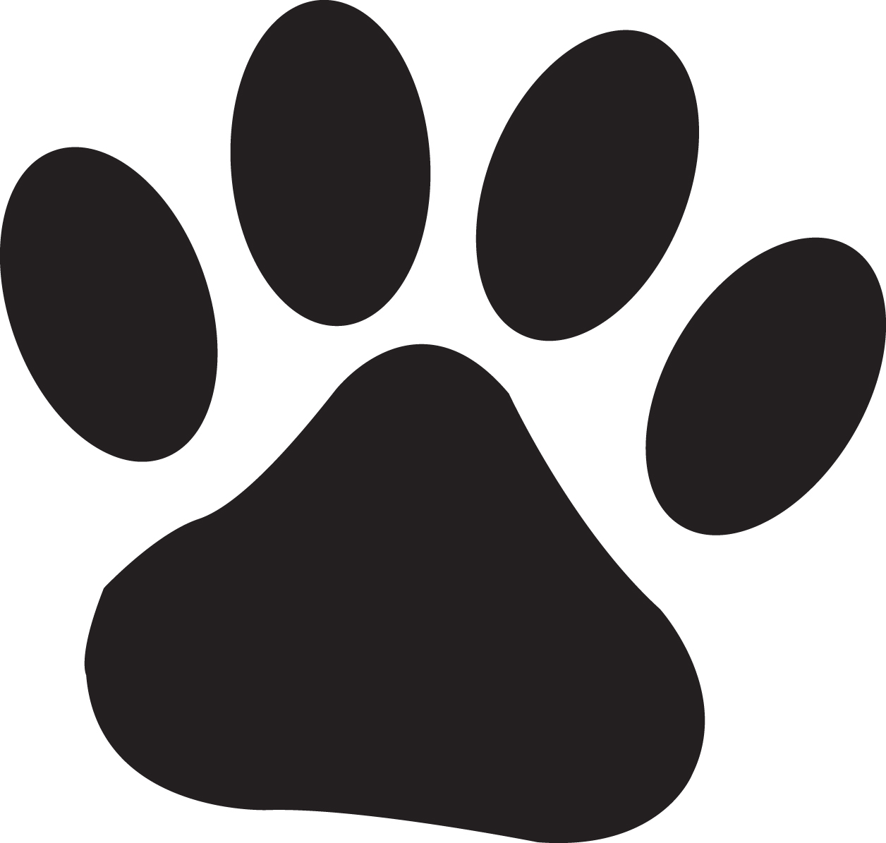 Paw clipart Free art wildcats and paw