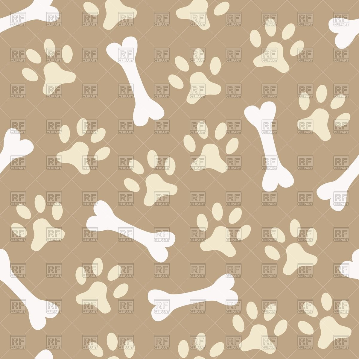 Paw clipart animal backgrounds Clipart paw Vector Free background