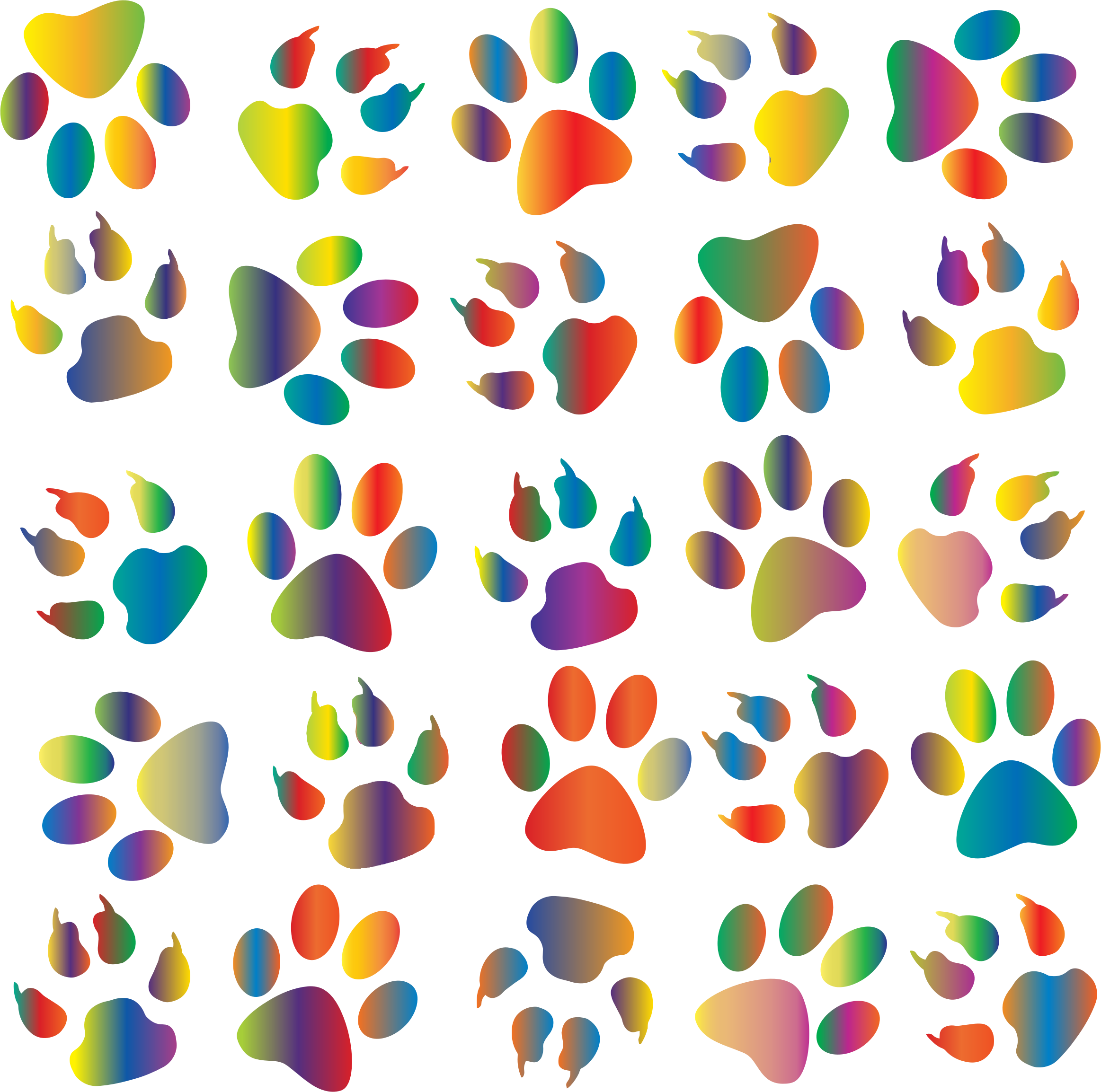 Paw clipart animal backgrounds Clipart Paw clipart pattern pattern