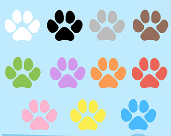 Paw clipart animal backgrounds Print Prints Animal Cat Colorful