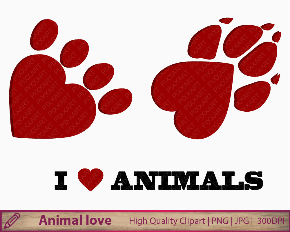 Paw clipart animal foot Heart cat paw clipart png