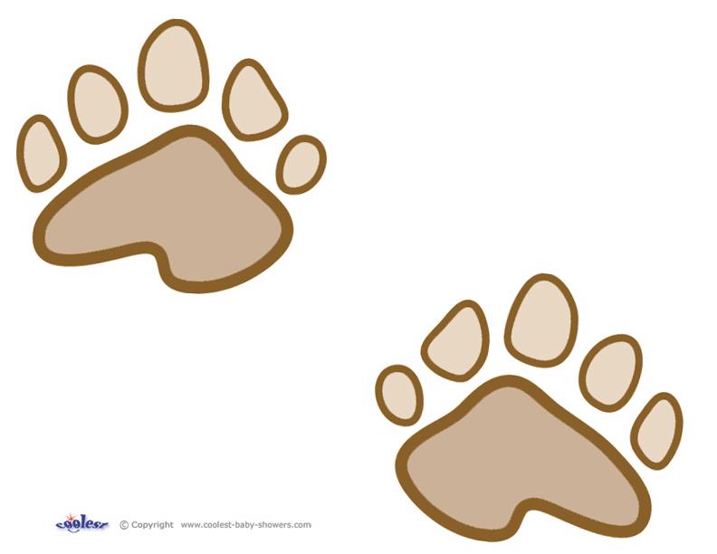 Paw clipart baby bear  Bear Prints Free Printables