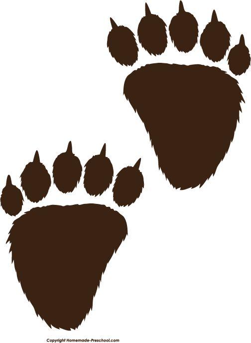 Paw clipart black bear 25+ Images Prayer Bear Prints