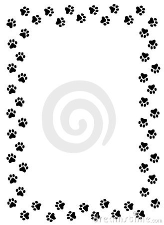 Paw clipart border Free  dog%20paw%20border%20clipart Clipart Print