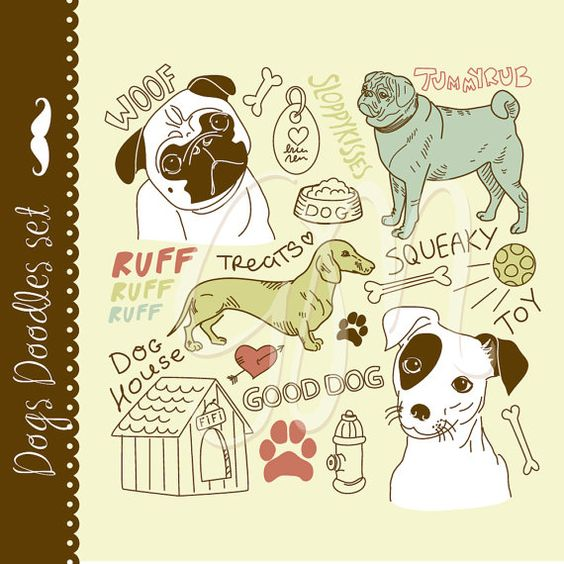 Jack Russell Terrier clipart Includes Pugs I Jack puppy