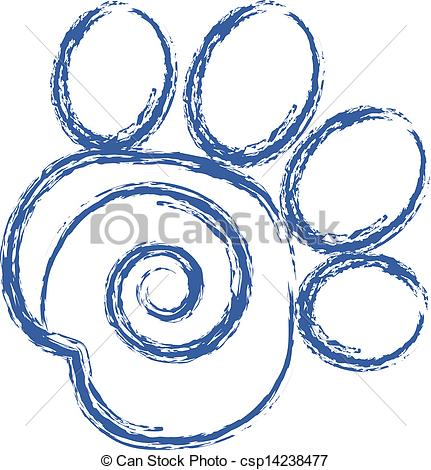 Paw clipart greyhound Paw Vectors csp14238477 Swirly vector