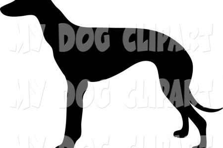 Paw clipart greyhound Profile Silhouetted Silhouette > Greyhound