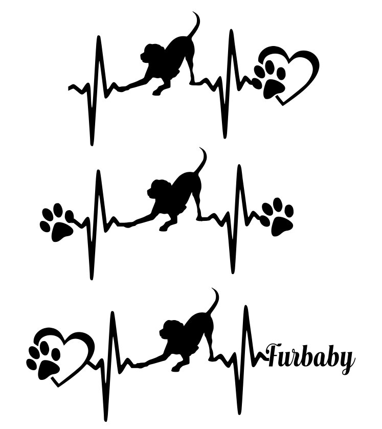 Paw clipart lab Or Tshirt  Heartbeat with