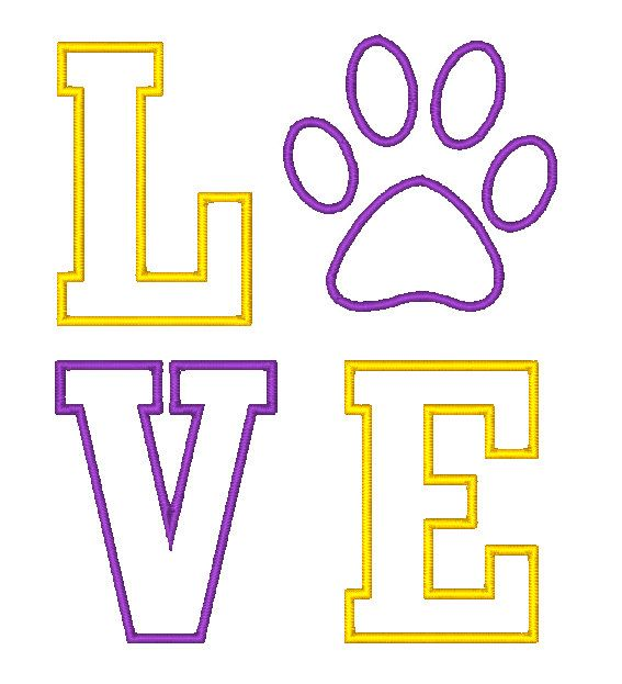 Paw clipart lsu tiger LSU images Love on Pinterest