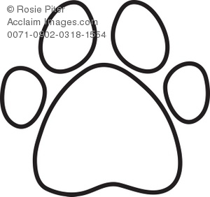 Paw clipart outline Download Clip dog%20paw%20print%20clip%20art%20free%20download Free Print