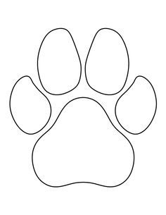 Paw clipart outline Outline Use 2 Dog Commercial