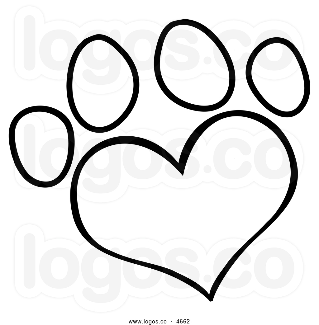 Paw clipart outline Free Clipart heart%20outline%20black%20and%20white Heart Images