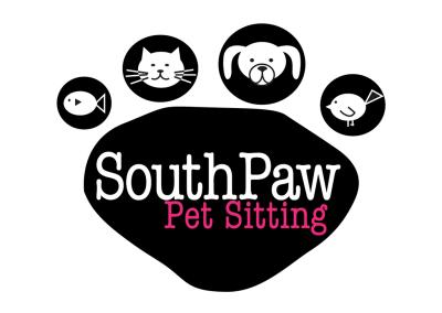 Paw clipart pet sitter Design SouthPaw Pet Logo Pet