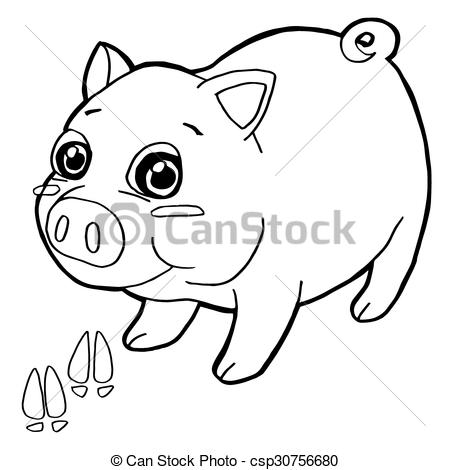 Paw clipart pig Pages of print print with