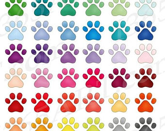 Paw clipart puppy Paws Prints print Art Pet