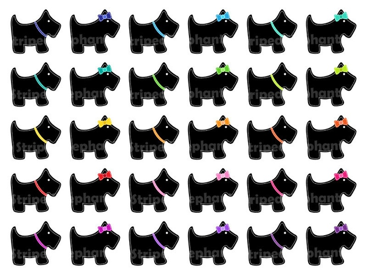 Paw clipart scottie Dog scottish on Art Scotty