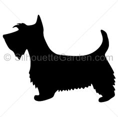 Paw clipart scottie Art silhouette EPS of image