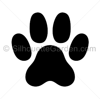 Paw clipart silhouette In the Download print free