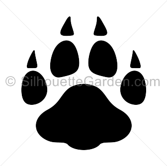 Paw clipart silhouette Print Paw Print Silhouette Leopard