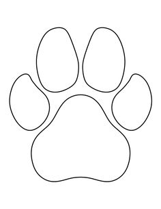 Drawn puppy paw print Pattern print printable crafts for