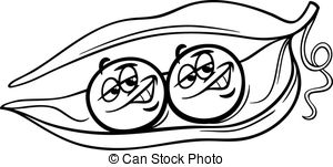 Pea clipart black and white Peas coloring and page White