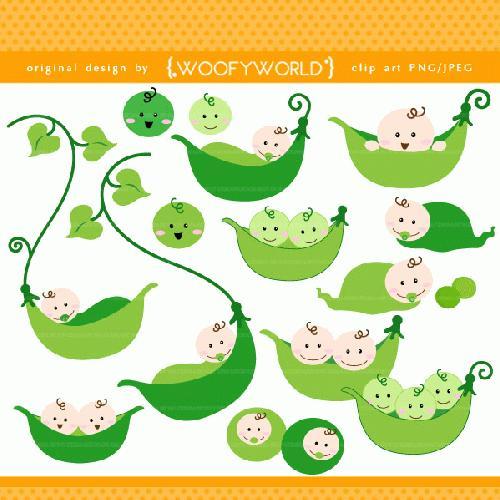 Pea clipart cute Clipart Pea Pea pod collection