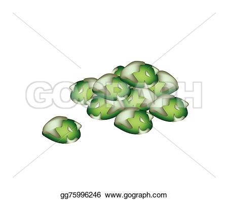 Pea clipart pile Wasabi green  white of