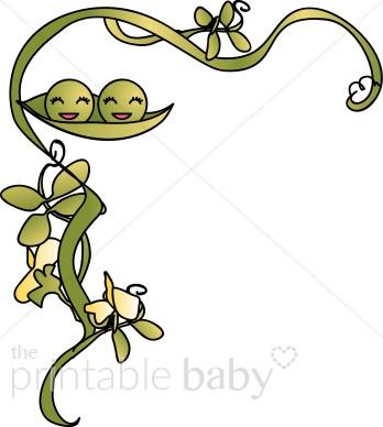 Pea clipart two Peas Flourish in Clipart Pod