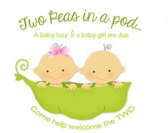 Pea clipart two Etsy collection pod invitation Baby