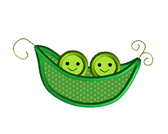 Pea clipart two Etsy a embroidery Peas in