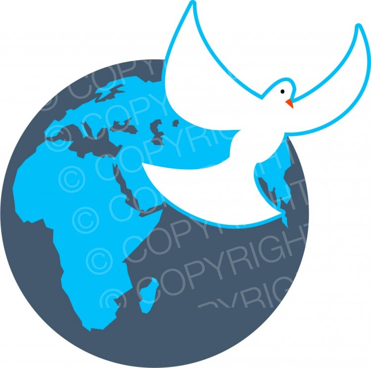 Peace clipart christianity Free Art World  Cartoons