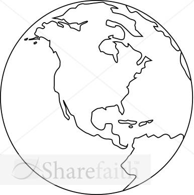Peace clipart christianity Black for Globe black for