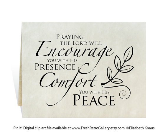 Peace clipart condolence Card/ on swirl branch get
