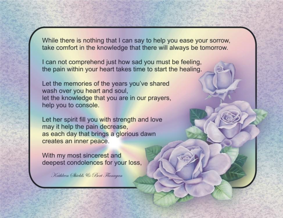 Peace clipart condolence Condolence Prayer Prayers Uncommon Blessings